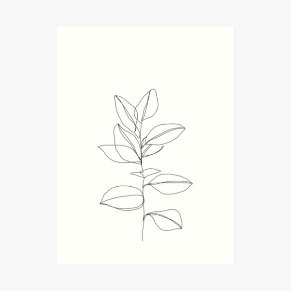 Botanical plant illustration - Dany Art Print