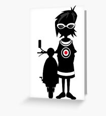Mod Girl & Retro Scooter Greeting Card