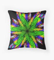 A Fractal Pinwheel Throw Pillow