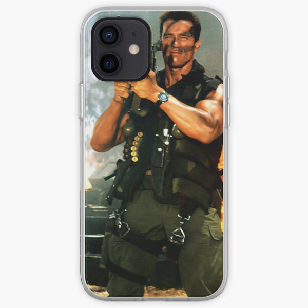 Schwarzenegger Rocket Launcher Case iPhone Soft Case