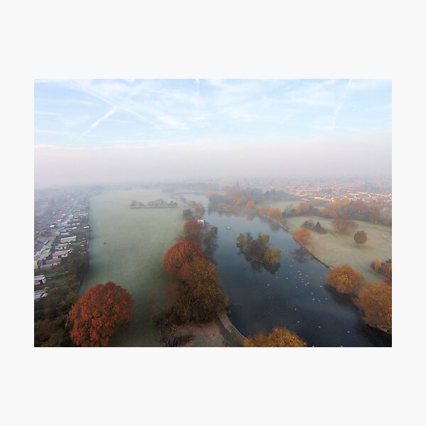 Harrowlodge Park in the mist 1 Photographic Print