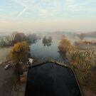 Harrowlodge Park in the mist 2 by Peter Barrett