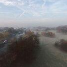 Harrowlodge Park in the mist 3 by Peter Barrett