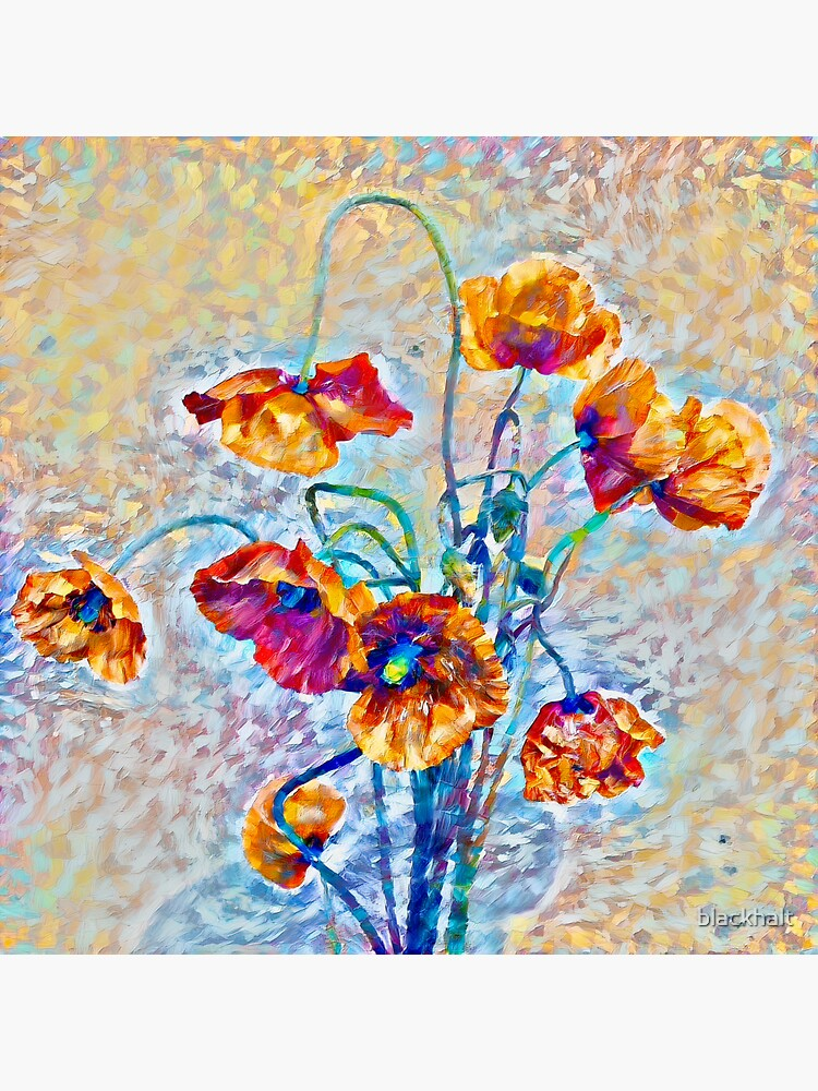 Abstract floral digital painting by blackhalt