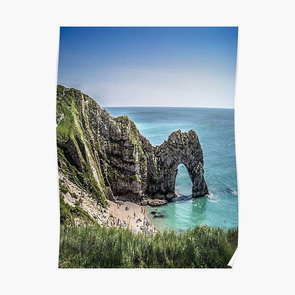 Durdle Door Cliffs Dorset England Poster