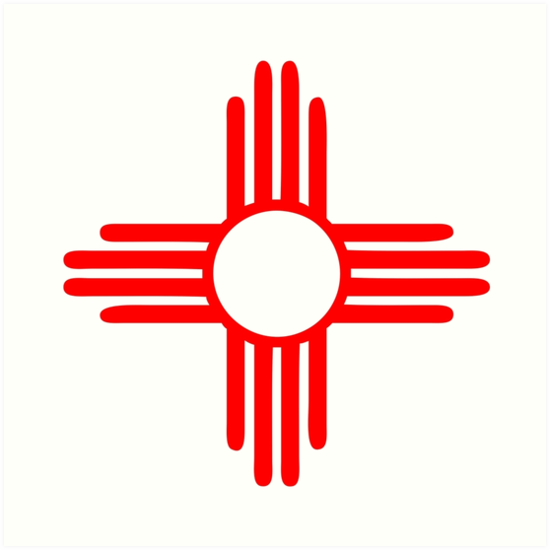 New Mexico Sun Zia Indian Symbol Art Prints By Huggymauve Redbubble