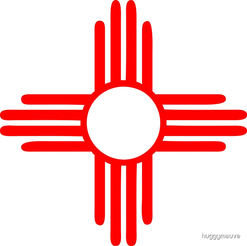 Quot New Mexico Sun Zia Indian Symbol Quot Stickers By Huggymauve