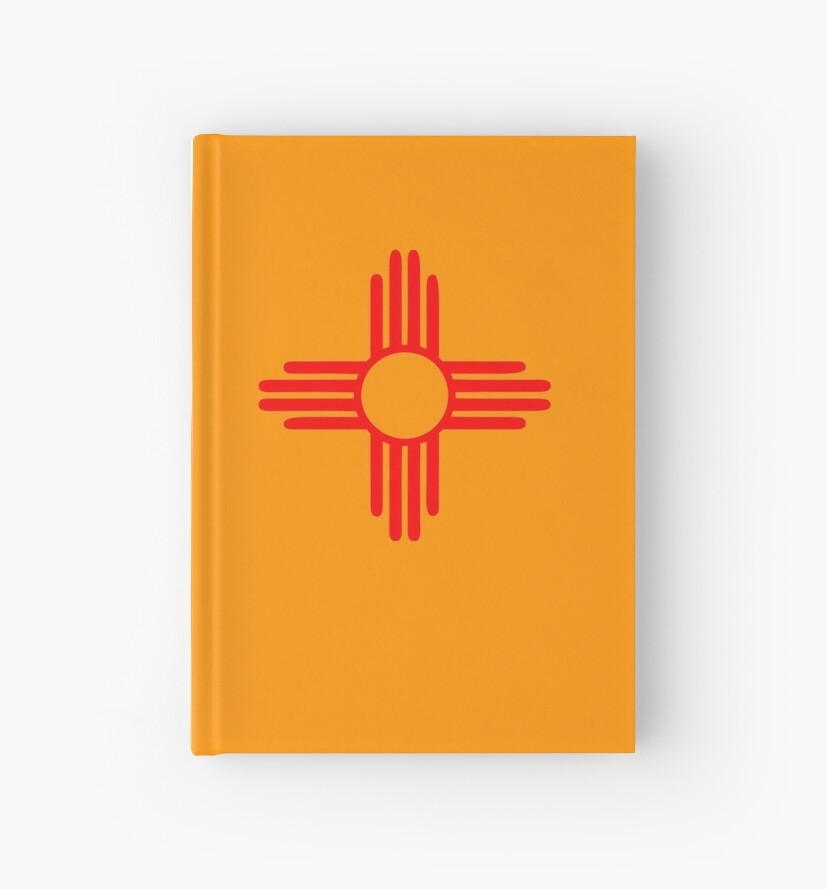 New Mexico Sun Zia Indian Symbol Hardcover Journals By Huggymauve