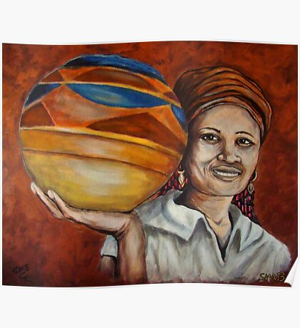 Pots For Sale, African Woman Collection Poster