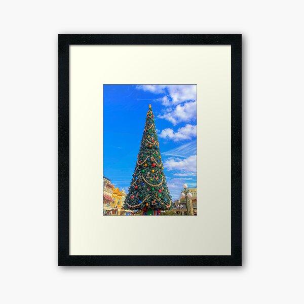 Merry Main Street Framed Art Print