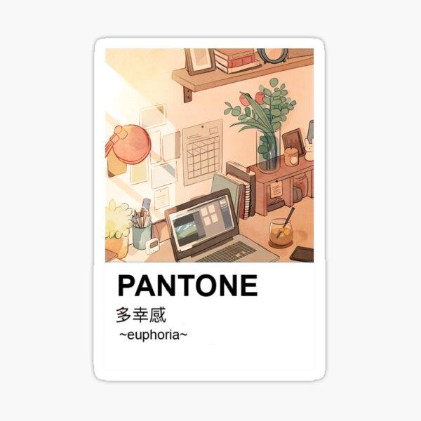 Pantone estética Anime pacífica estacionaria Pegatina