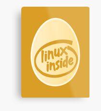 LINUX INSIDE Metal Print