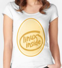 LINUX INSIDE Women's Fitted Scoop T-Shirt