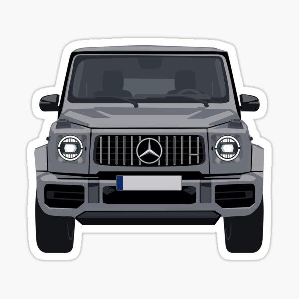 4x4 SUV Luxusauto Vorderansicht Grau Sticker