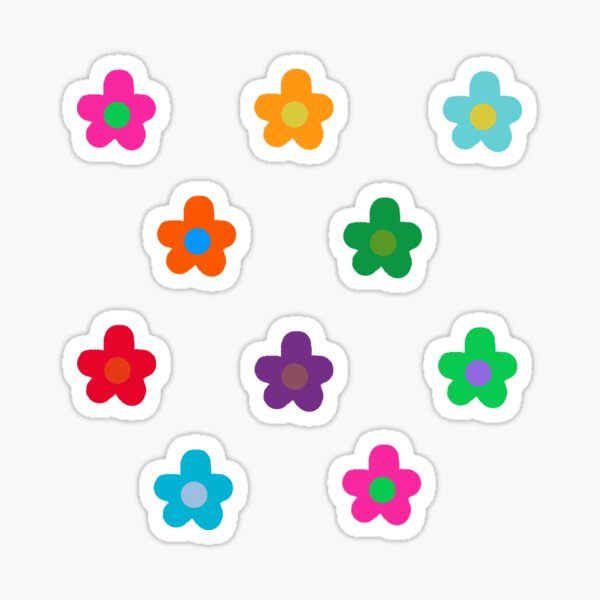 colorful flowers pack Sticker
