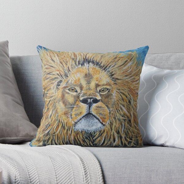 Lion, Big Cat, King of Beasts Throw Pillow