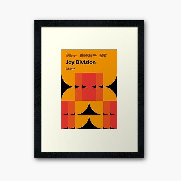 Joy Division, The Astoria 1980 Vintage Poster Framed Art Print