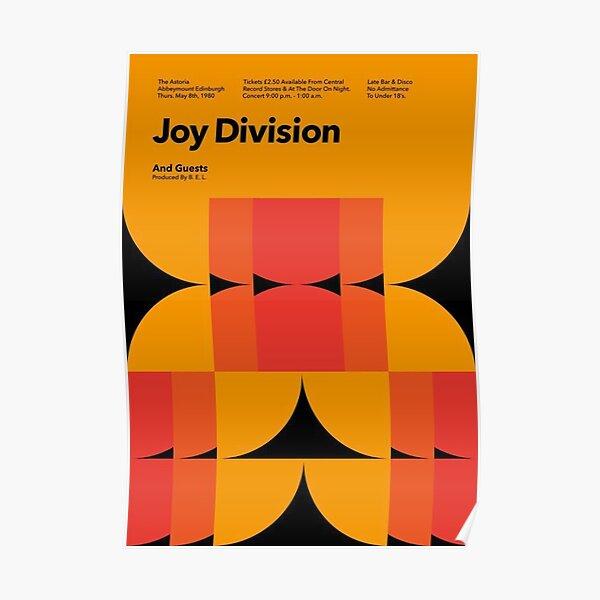 Joy Division, The Astoria 1980 Vintage Poster Poster