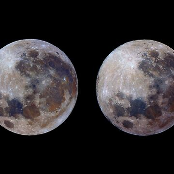 Full Moon in 3D colour by DuncanW