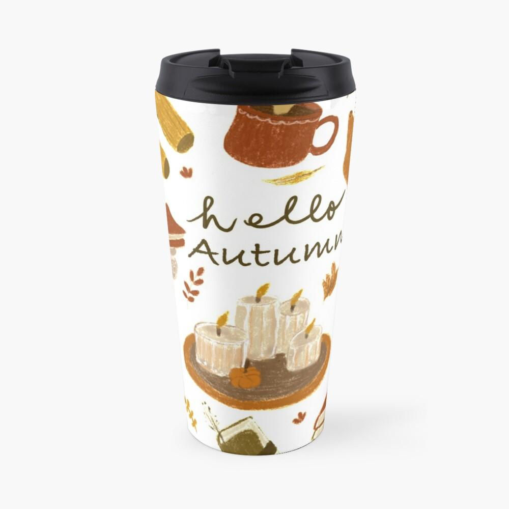 Autumn Cozy Vibes Travel Mug