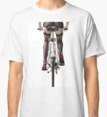 Sexy Woman Riding a Bike T-shirt design Classic T-Shirt