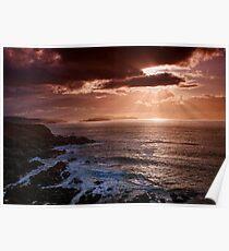 Caithness Coast Sunset, Caithness, Scotland Poster