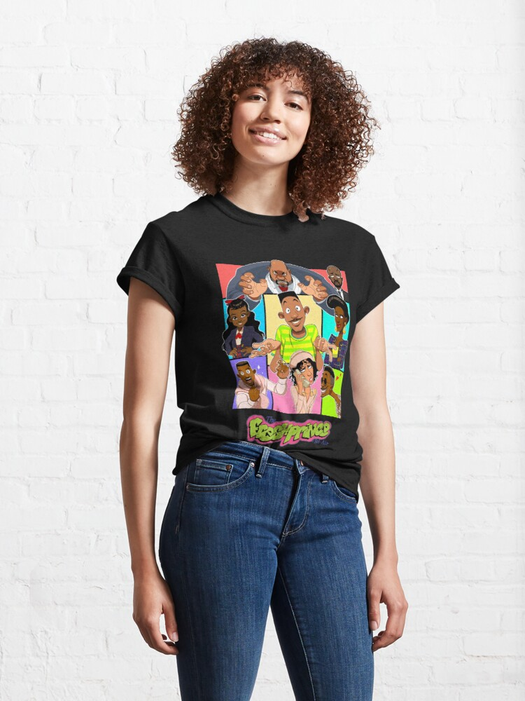 Alternate view of Fresh Prince of Bel Air Cartoon Cover Classic T-Shirt