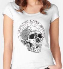 Black Majik Skull Women's Fitted Scoop T-Shirt