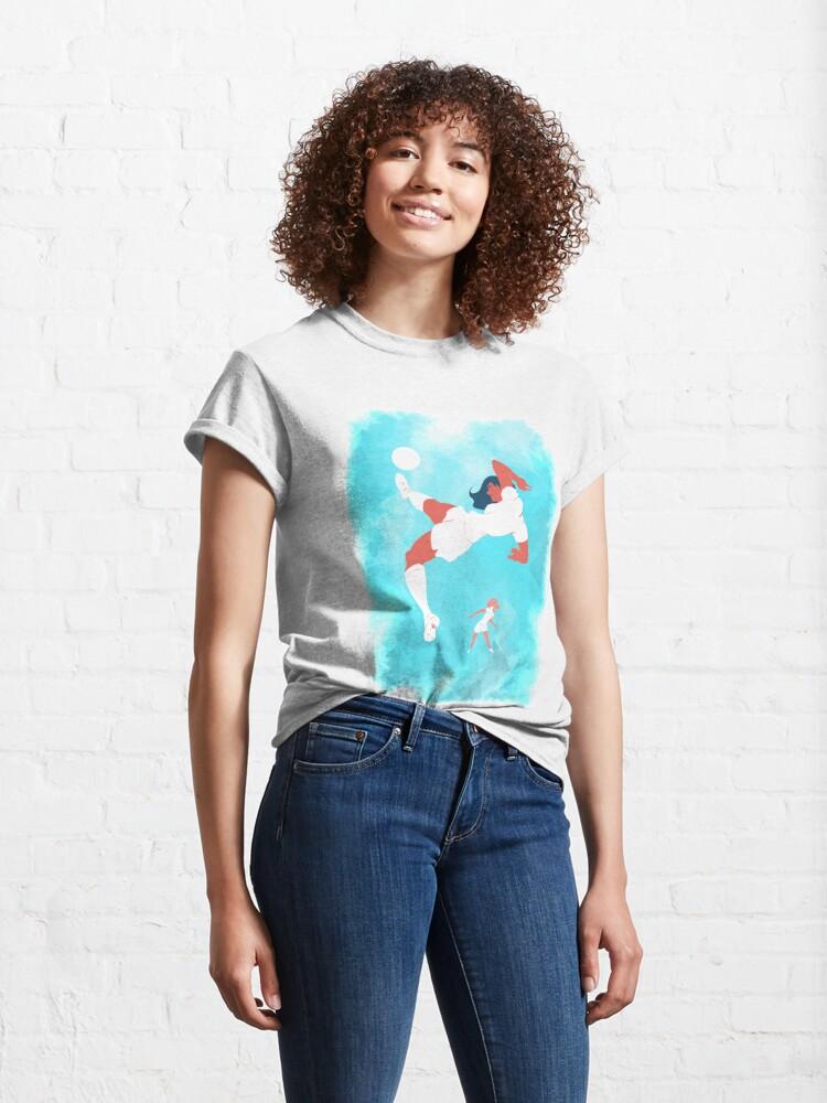 T-shirt classique ''Footballeuses': autre vue