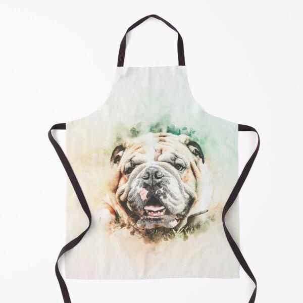 English Bulldog Painting Apron