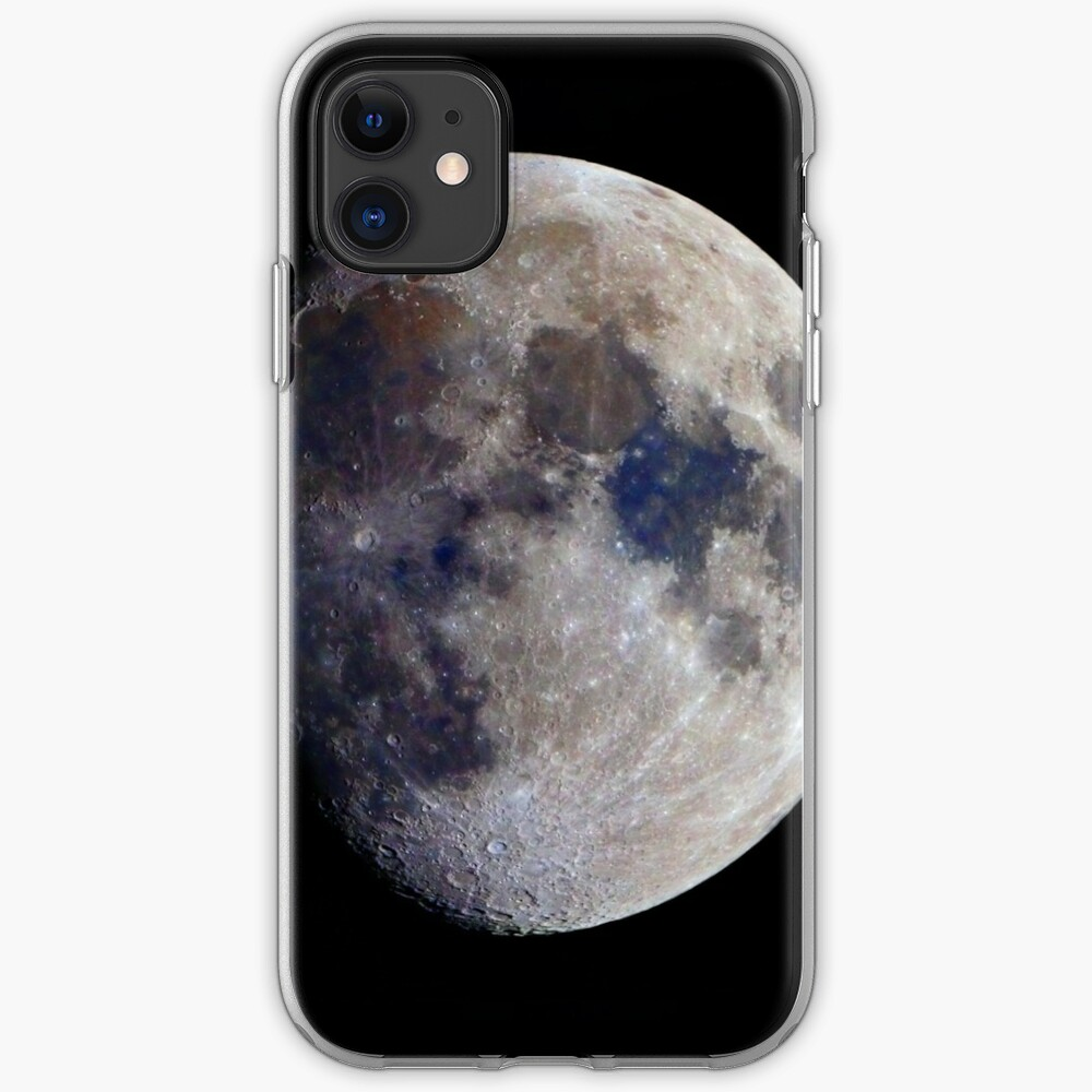 Gibbous Moon in saturated colour iPhone Case & Cover