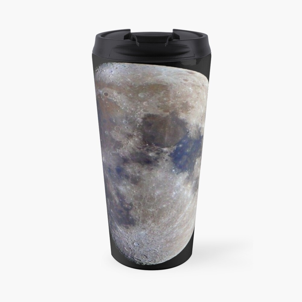 Gibbous Moon in saturated colour Travel Mug