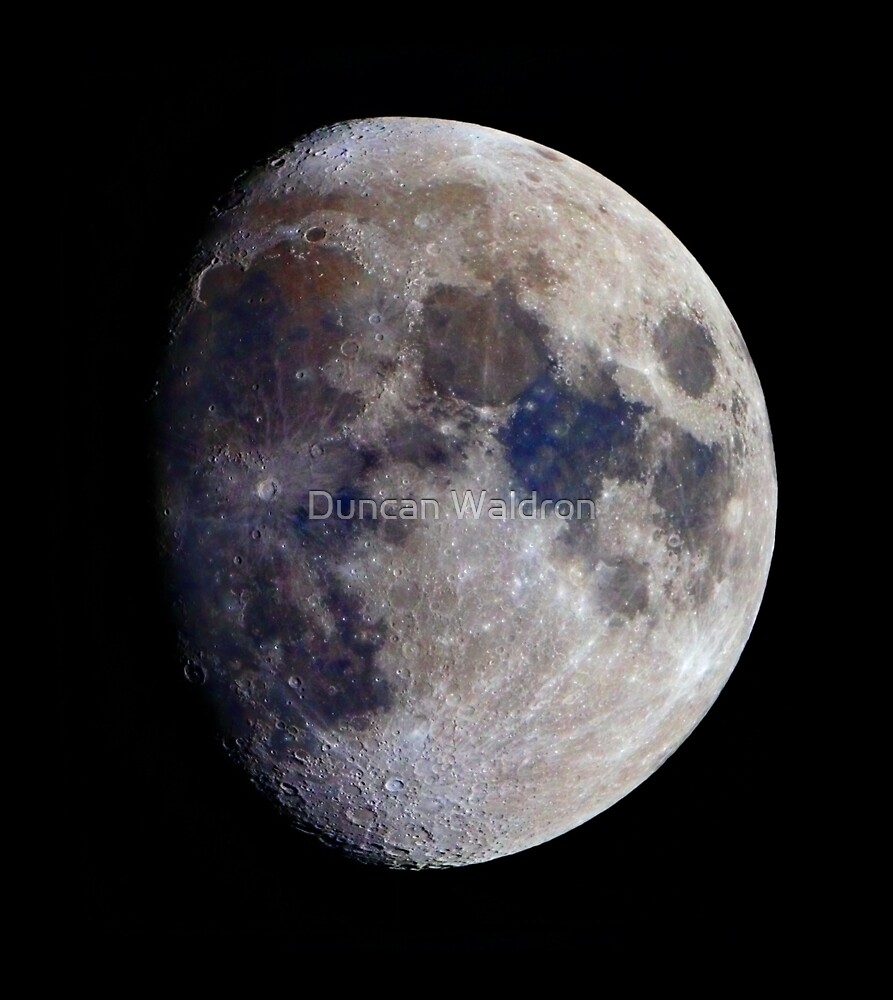 Gibbous Moon in saturated colour by Duncan Waldron