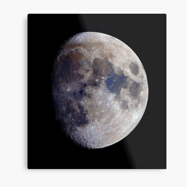 Gibbous Moon in saturated colour Metal Print