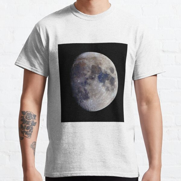 Gibbous Moon in saturated colour Classic T-Shirt