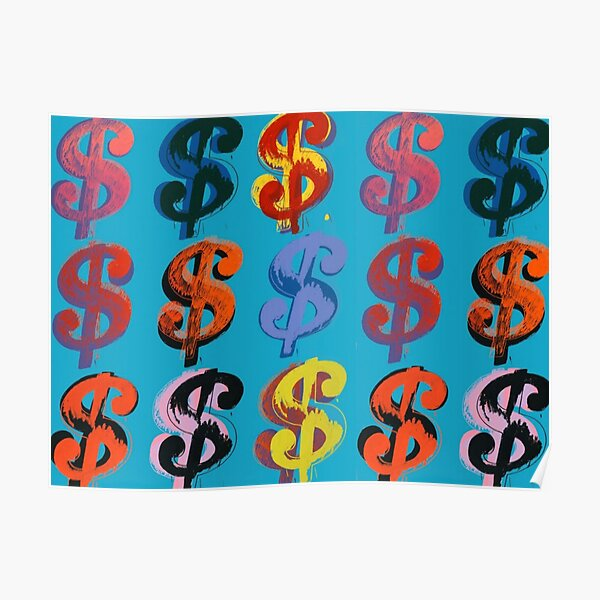 Dollar Sign - Andy Warhol Póster