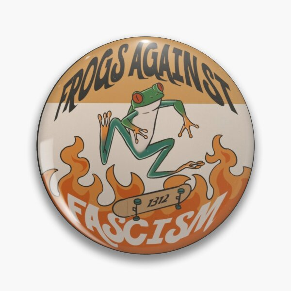 Frogs against fascism Pin