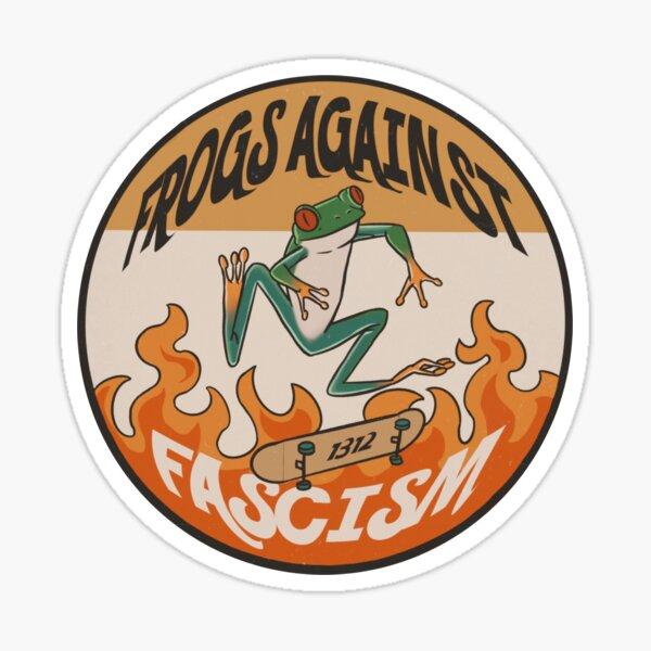 Frogs against fascism Sticker