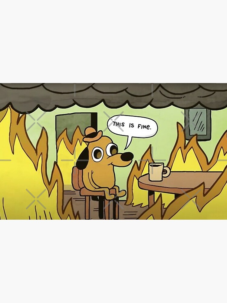 This is Fine, dog meme by Luna7