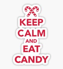 Keep calm and eat candy  Sticker
