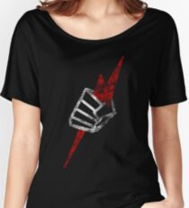 """Pride """"Fist"""" Distressed Women's Relaxed Fit T-Shirt"""