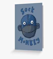 Crafty Sock Monkey Always Happy to See You ! Greeting Card