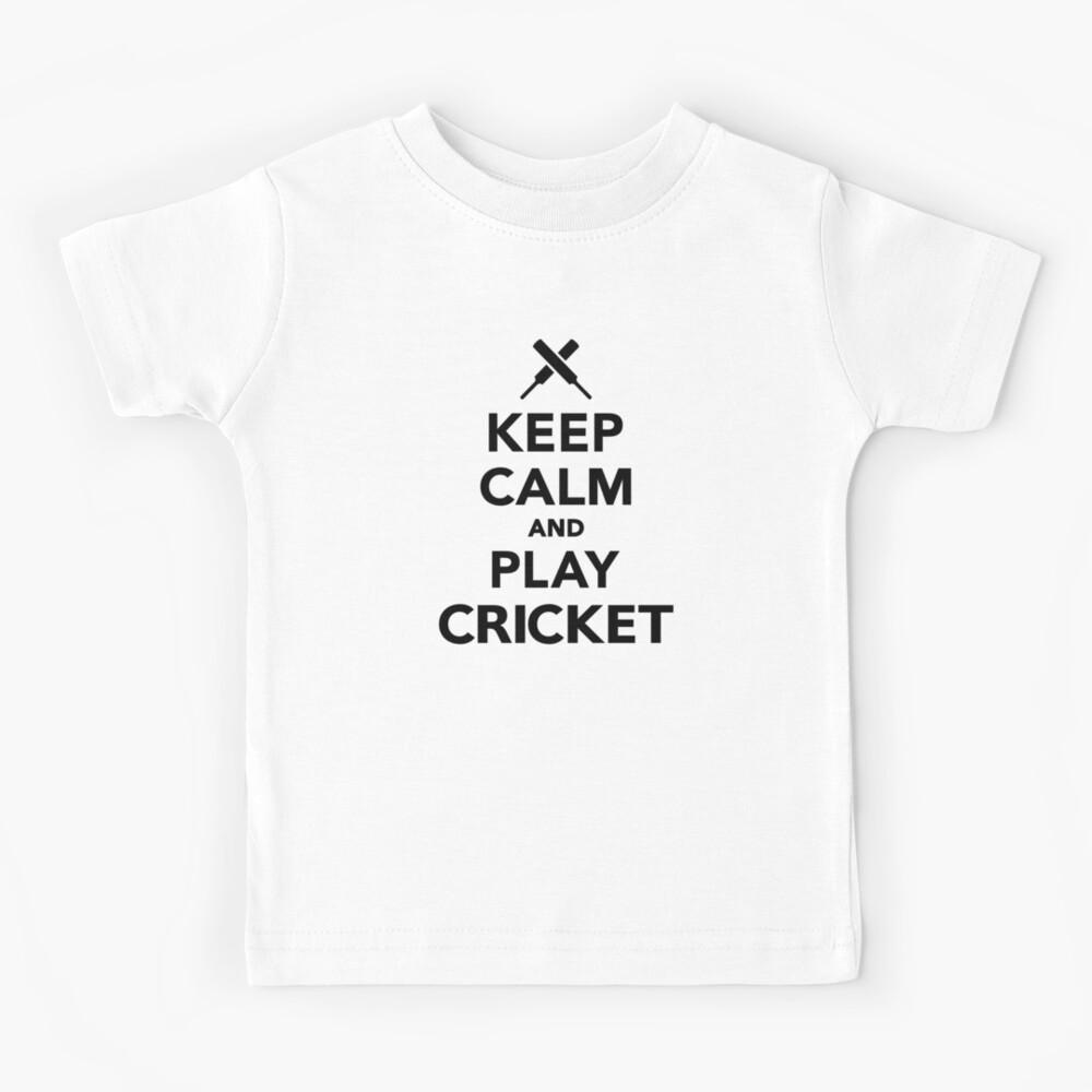 Keep calm and play Cricket Kids T-Shirt