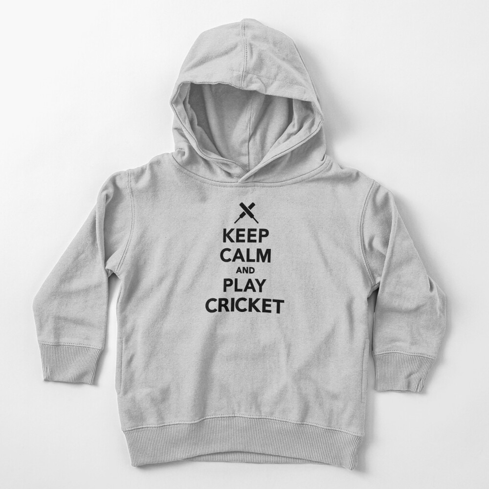 Keep calm and play Cricket Toddler Pullover Hoodie