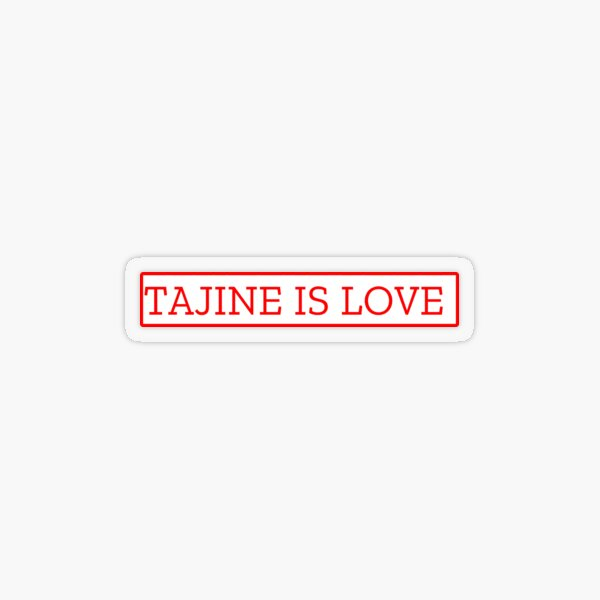 TAJINE IS LOVE Transparent Sticker