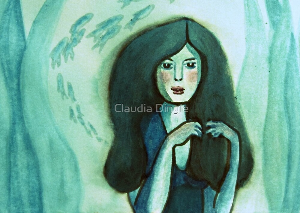 little mermaid by Claudia Dingle