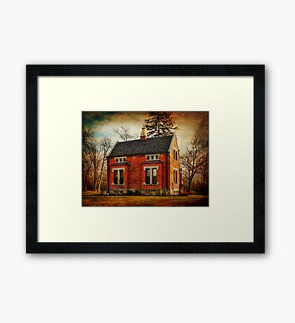 Caretakers Cottage Haight Cemetery Framed Print