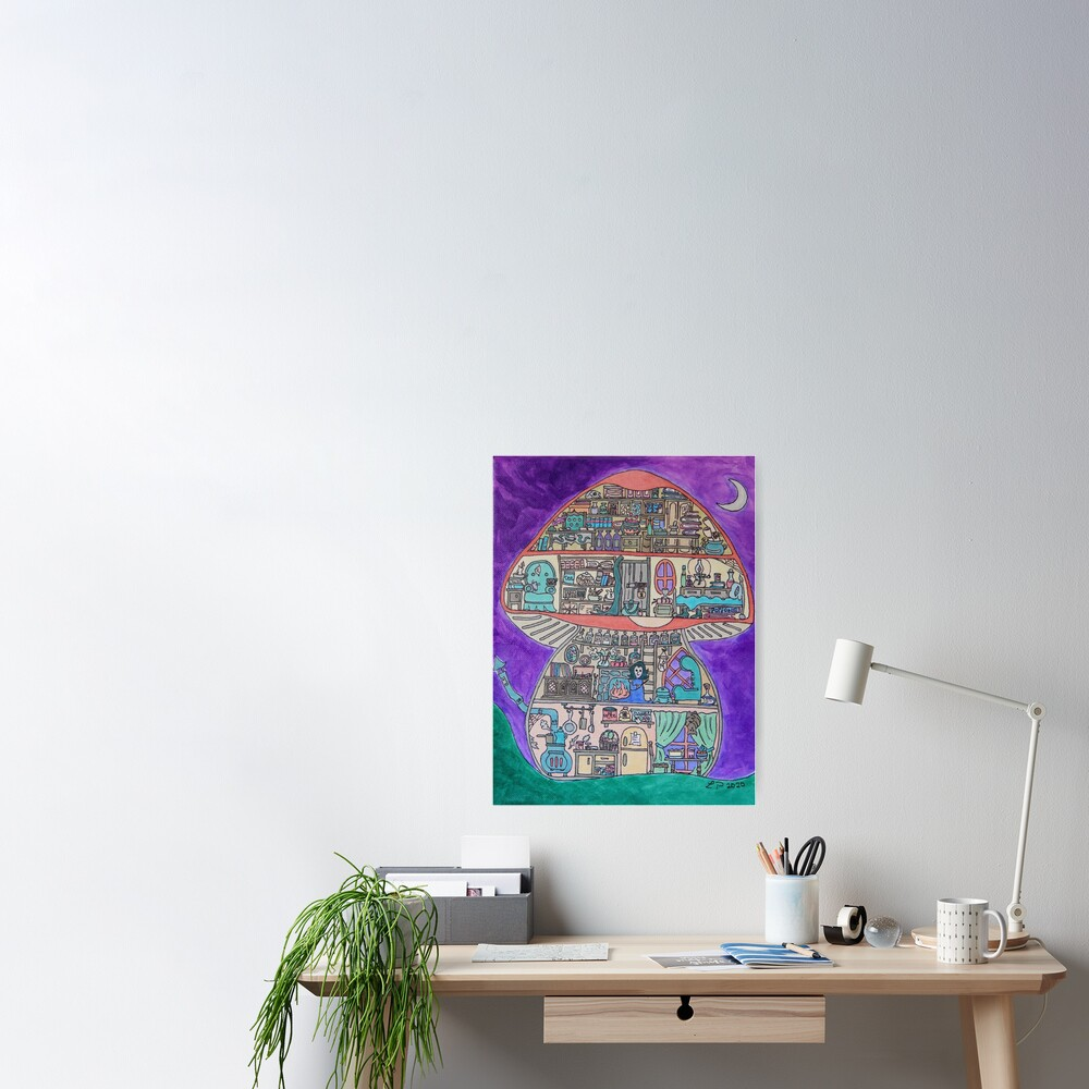 Magical Toadstool Poster