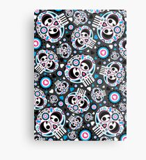 Mexican 'Day of the Dead' Pattern Metal Print