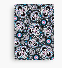 Mexican 'Day of the Dead' Pattern Canvas Print